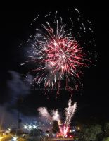 Fireworks at the 2013 Royal Adelaide Show by Badooleoo