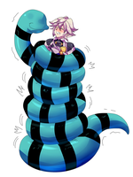 Snake squeeze Kamui (Alternate) by TightSquish
