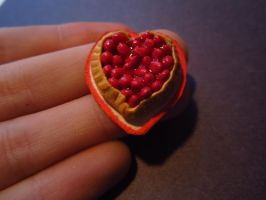 Strawberry Heart Tart by sonickingscrewdriver
