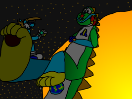 Art Trade with Jerryt - A Planetary Rest by Turbo-Tails-8027