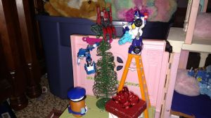Tree Decorating at the Mechanical Mansion by LittleKunai