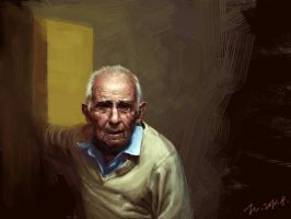 old man portrait 3 by jazzjiang