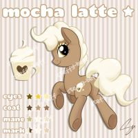 SOLD: Earth Pony Adoptable - Mocha Latte by steffy-beff
