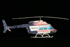Mini Airwolf Bell-206 paper model by ThunderChildFTC