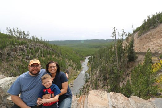 Grand Canyon of Yellowstone Family Portrait by Architechnid
