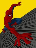 Spider-Man  wide angle with backround by Spidey1974