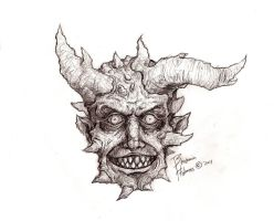 mutant horned character by GorillaEye