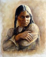 Portrait of the Indian by joseph-art