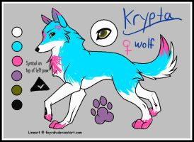 Krypta Ref. Sheet (LINEART USED) by PurryProductions-Inc