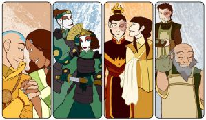 ATLA Bookmarks - Love by AliWildgoose