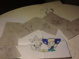 sketches I made at school by Arty-Sylvi-14