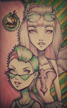 Rochelle Goyle and Venus McFlytrap by CatherineFevrier