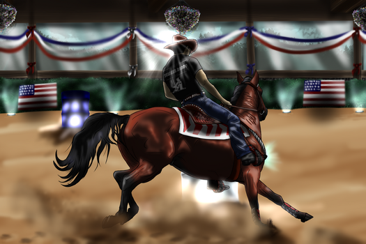 HTF Event Barrel Racing - Shoot To Thrill by allisonneal