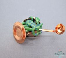 Commission: Octopus in a 1:12 Copper Pot by Bon-AppetEats