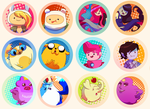 Adventure Time Buttons by tabby-like-a-cat