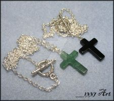 Mens Cross Necklaces by 1337-Art