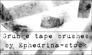 Grunge tape brushes by ephedrina-stock