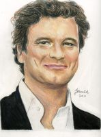 Mr. Firth in colored pencils. by Jojemo