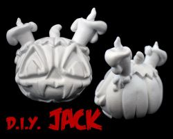 Dunny Monster : DIY Jack by zombiemonkie