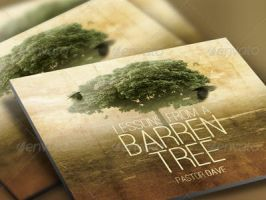 Barren Tree Church Flyer and CD Template by loswl
