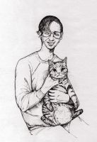 Walter and his Cat by pink-porcupine