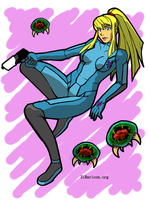 Samus Color Miniprint by HolyLancer9
