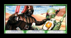 Vader vs Boba Fett 3 card Puzzle (Topps) by AstroVisionary
