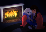 A SanXFrisk commission by gross-ghost by ReneeIsdetermined
