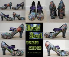 Duela Dent Comic Shoes by CreativelyRash