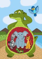 Cubs in the Crocodile's stomach by MCsaurus