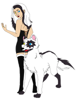 Fang's Human And Wolf Form by FangAlphaWolf