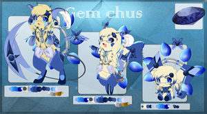 Sonna the Sapphire GemChu UPDATED INFO. by FeisuCakester