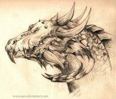 Dragon Head Side by Ayeri