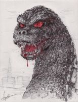 Godzilla is not Good by nickagneta