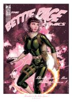 Bettie Page In Space, Print by Guy-Bigbelly
