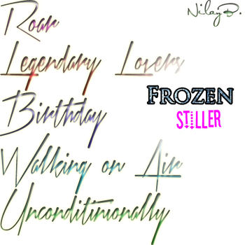 Frozen Styles by ChocolatePhotoshop