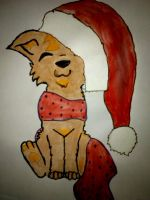 Silly Puppy, Hats Are For Santa by IndistinctStoner