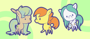 Commission: Chibi ponies by Looji