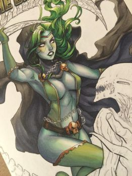 Gamora (blank cover close up) by ColletteTurner