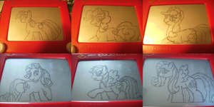 Etch A Sketch: My Little Pony by HoshiKan