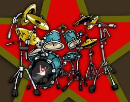 Its a drum set by kirkfinger