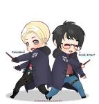 Chibi Drarry - Aurors by Cremebunny