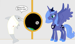 Luna In Space by CatIron
