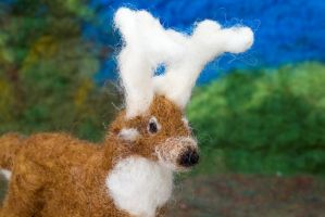 Deer Detail- Felted Fuzzies by feltAliza