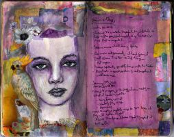 Art Journal - Purple Face by QueenofCupcakes
