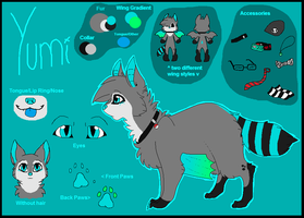 Yumi Reference Sheet by MonsterRage840