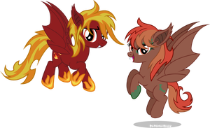 Bat Blaze and Autum night by Vector-Brony