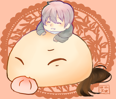 Mochi China + ChibiRus by Konisu