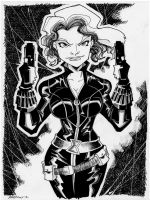 Sketch 061 of 100 BLACK WIDOW by misfitcorner