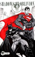 Two Sketch 11: Batman Superman by Shono